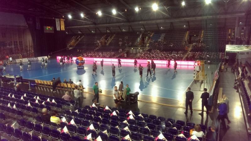 SC DHfK Leipzig gegen VfL Bad Schwartau,die Halle vor dem Spiel