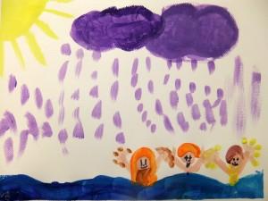 Dieses Bild wurde von einem Kind in unserem Friesennest gemalt.
