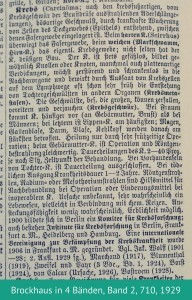 Definition Krebs, Brockhaus in 4 Bänden, Band 2, 710, 1929