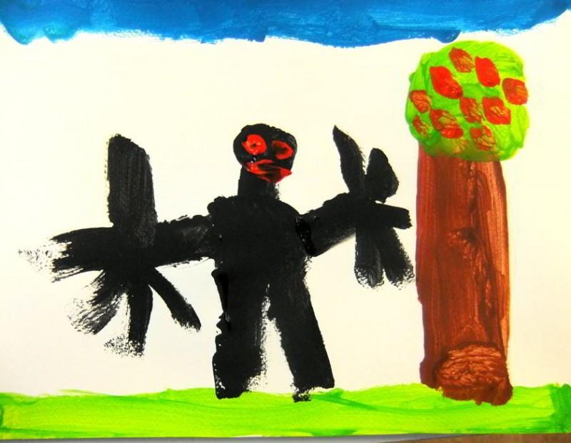 """""""Der schwarze Mann"""" – ein Bild aus unserem Friesennest"""