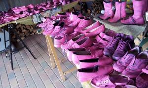 Schuhe für den Pink Shoe Day 2014_Frauenselbsthilfe nach Krebs_Bad Belzig