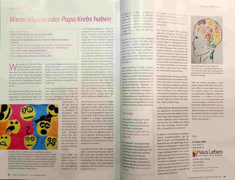 Auszug aus MammaMia! Das Brustkrebsmagazin, Heft 4/2015