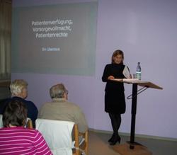 Vortrag: Patientenrecht und Patiententestament