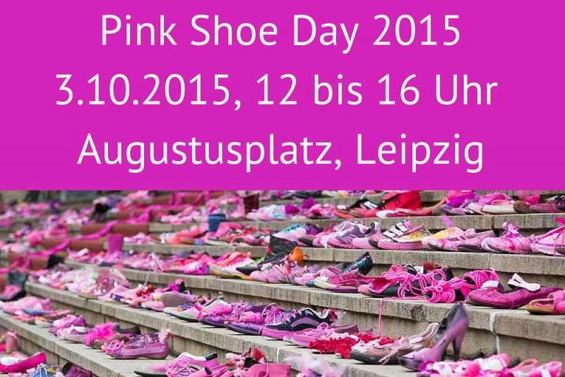 Am 3.10.2015 ist wieder Pink Shoe Day, die Aktion gegen Brustkrebs des Haus Leben e. V. Leipzig