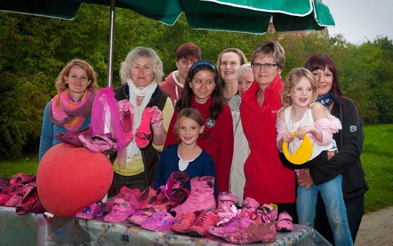 Achatstraße & Friends 2014  gestaltete pink Shoes