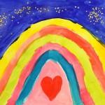 Regenbogen – Ein Bild aus unserem Friesennest