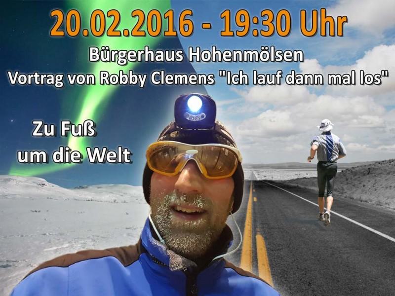 Robby Clemens. Vom Nordpol zum Südpol zu Fuß. Vortrag am 20.2.2016