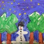 Schneemann – Ein Bild aus unserem Friesennest