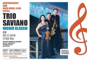 Benefiz-Konzert, Inner Wheel-Club Leipzig, Trio Saviano, Wiener Klassik, 8.11.2014, 17 Uhr