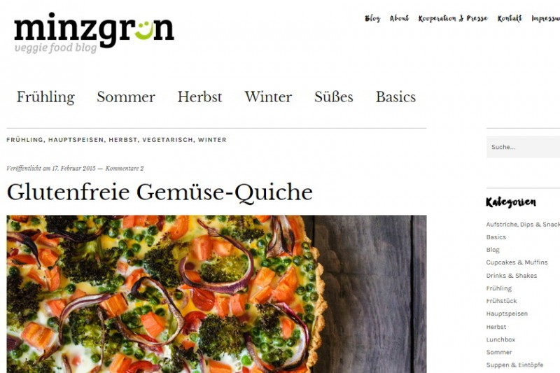 Screenshot: www.minzgrün.com